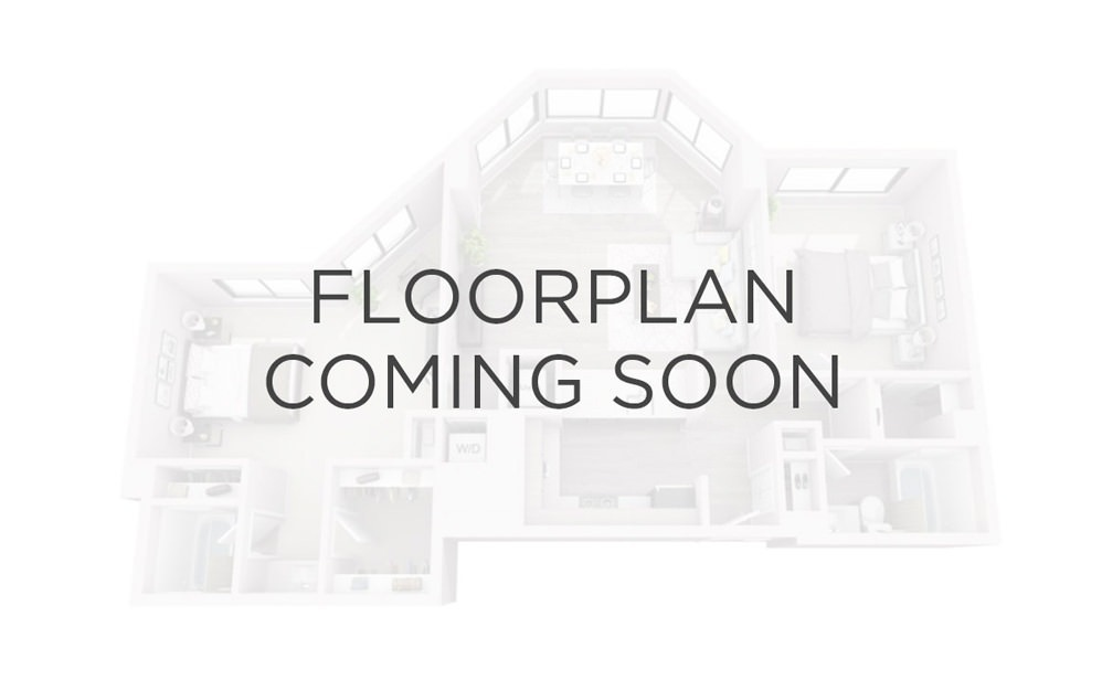 2x1 - 2 bedroom floorplan layout with 1 bath and 825 square feet.